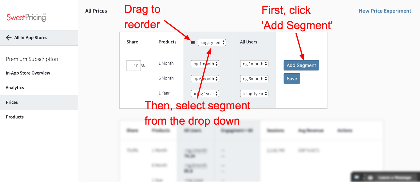 Click 'Add Segment' and select your segment from the drop down.