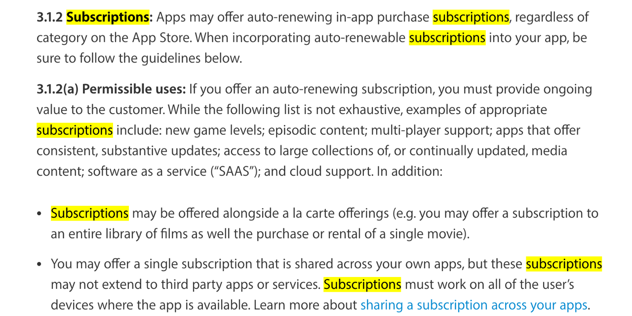 Apple has updated the App Store Guidelines