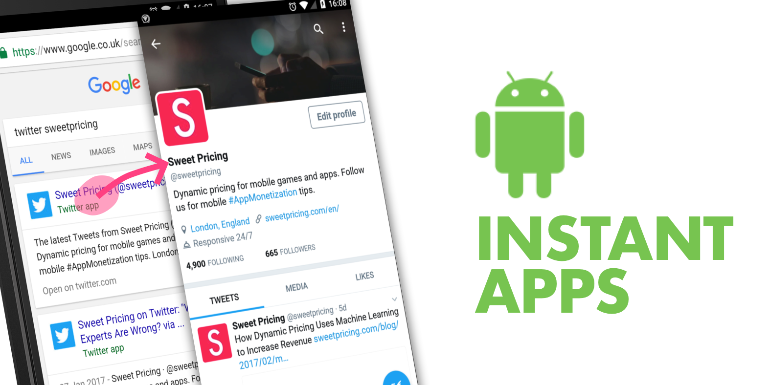 Android Instant Apps gives access to mobile apps without installation.