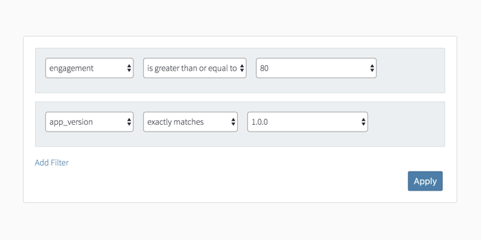 You can apply more than one filter in Sweet Pricing Analytics.